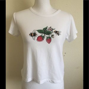 Brandy Melville bees and strawberry top